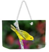 Yellow Warbler Dendroica Petechia Weekender Tote Bag
