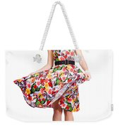 Young Beautiful Dancer Posing On White Background Weekender Tote Bag