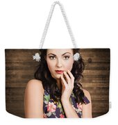 Young Girl With Perfect Skin Weekender Tote Bag