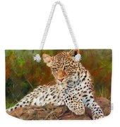 Young Leopard Weekender Tote Bag