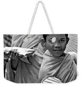 Young Monks Bw Weekender Tote Bag