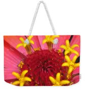 Zinnia Named Swizzle Scarlet And Yellow Weekender Tote Bag