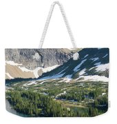 A Man Stand Up Paddle Boards Sup Weekender Tote Bag