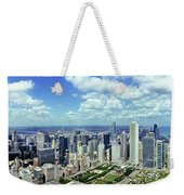 Aerial View Of A City, Chicago, Cook Weekender Tote Bag