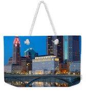 Fx2l-516 Columbus Ohio Night Skyline Photo Weekender Tote Bag