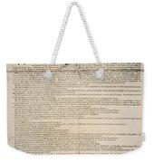 Declaration Of Independence Weekender Tote Bag