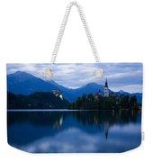 Dusk Over Lake Bled Weekender Tote Bag