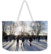 Ice Skating At Hampton Court Palace Ice Rink England Uk Weekender Tote Bag