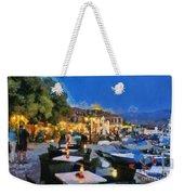 Molyvos Town In Lesvos Island Weekender Tote Bag by George Atsametakis