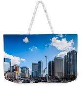 Skyline Of Uptown Charlotte North Carolina Weekender Tote Bag by Alex Grichenko