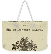 Voltaire Candide Weekender Tote Bag