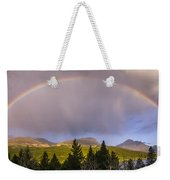 100801a-14 Two Medicine Rainbow Weekender Tote Bag
