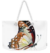 102 Perched White Lady Butterfly Weekender Tote Bag by Amy Kirkpatrick