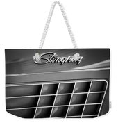 1972 Chevrolet Corvette Stingray Emblem Weekender Tote Bag