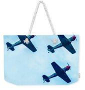 Action In The Sky During An Airshow Weekender Tote Bag