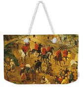 Ascent To Calvary, By Pieter Bruegel Weekender Tote Bag
