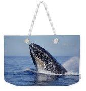 Humpback Whale Breaching Maui Hawaii Weekender Tote Bag