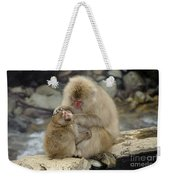 Snow Monkeys Weekender Tote Bag