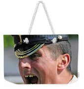 1st Battalion Welsh Guards On The Drill Weekender Tote Bag by Andrew Chittock