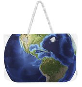 3d Rendering Of Planet Earth, Centered Weekender Tote Bag