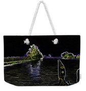 Captain Of The Houseboat Surveying Canal Weekender Tote Bag