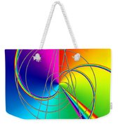 Depression Color Therapy Inside A Rainbow Weekender Tote Bag