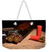 12 Gauge Over And Under Shotgun Weekender Tote Bag
