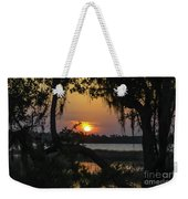 Lowcountry Spanish Moss Sunset Weekender Tote Bag