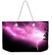 Rounds 2 3 Late Night Nebraska Storms Weekender Tote Bag