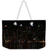 San Diego Skyline Night Weekender Tote Bag