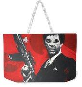 Scarface Weekender Tote Bag by Luis Ludzska