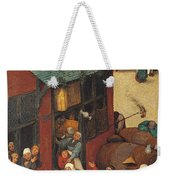The Fight Between Carnival And Lent Weekender Tote Bag
