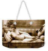 Vintage Nude Postcard Image Weekender Tote Bag