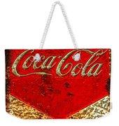 Coca Cola Classic Vintage Rusty Sign Weekender Tote Bag