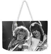 Van Halen - Sammy Hagar With Eddie Van Halen Weekender Tote Bag