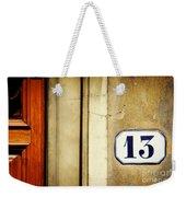 13 With Wooden Door Weekender Tote Bag