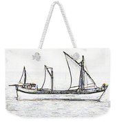 Fishing Vessel In The Arabian Sea Weekender Tote Bag