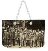 Hine Child Labor, 1911 Weekender Tote Bag