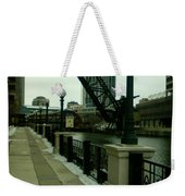 Kinzie Street Bridge Weekender Tote Bag