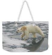 Polar Bear Walking On Ice Weekender Tote Bag