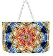 Rainbow Light Mandala Weekender Tote Bag