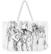 Scene From Pride And Prejudice By Jane Austen Weekender Tote Bag