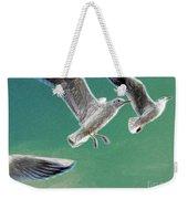 10760 Seagulls In Flight #001 Photo Painting Weekender Tote Bag