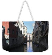 Narrow Canal Venice Italy Weekender Tote Bag