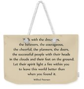 140- Wilfred Peterson Weekender Tote Bag