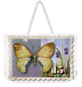 15 Cent Butterfly Stamp Weekender Tote Bag