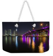 Miami Downtown Skyline Weekender Tote Bag