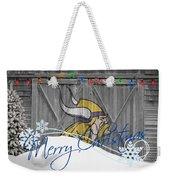 Minnesota Vikings Weekender Tote Bag by Joe Hamilton
