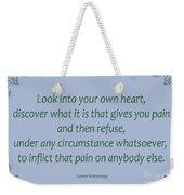 156- Karen Armstrong Weekender Tote Bag