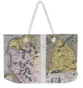 1579 Ortelius Map Of Calais And Vermandois France And Vicinity Weekender Tote Bag